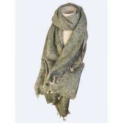 Foulard Echarpe laine de Yack Vert Bouteille