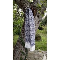 écharpe  Alpaga épaisse- Bleu anthracite