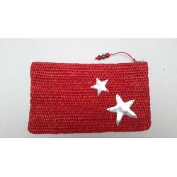 Pochette Raphia avec étoile