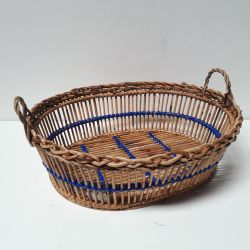 Corbeille Ovale Lavandiere Bleu Tina Baskets
