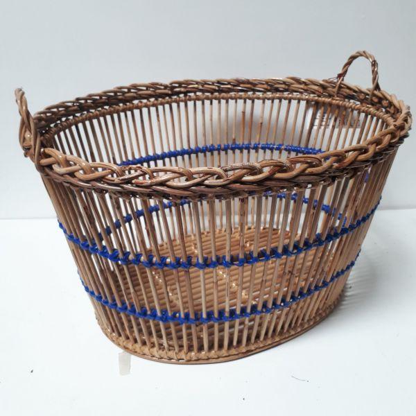 Corbeille Ovale Lavandiere Blanche Tina Baskets