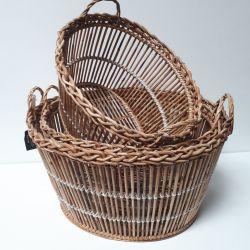 Corbeille Ovale Lavandiere Blanche haute   Baskets