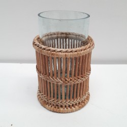 Set de 2 photophores cylindriques ajour L NATUREL